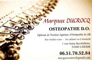 OSTEOPATHE Carte De Visite Margaux DUCROCQ