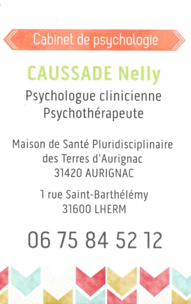 Carte De Visite Nelly CAUSSADE